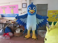 big bird halloween costumes - 2016 new blue big mouth bird mascot costume EVA plush adult size cartoon clothing The legend of Condor Hero animal bird Halloween mascot