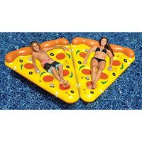 Wholesale 72inch cm Gigantic Inflatable Pizza Swim Floats Water Fun Pool Toys Inflatable Swim Ring For Adult Swimming Air Mattress DHL Freeship