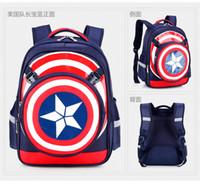 america handbags - Captain America Superman Student boys schoolbag children Backpack Famous designer backpacks handbags fashion bags