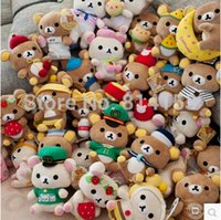 Wholesale 2pcs pair different models cute Rilakkuma plush dolls stuffed animal soft baby toys for children hot sale