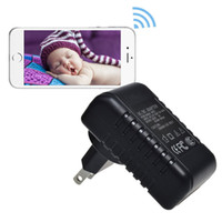 Wholesale 32GB WiFi IP P2P HD P Spy Hidden Wall Charger Camera Video Recorder Wireless Mini DV DVR Surveillance Security Camcorder