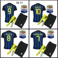 Wholesale Top Quality Inter Milan Jerseys kit patch Home Away jersey ICARDI JOVETIC PERISIC CANDREVA jersey