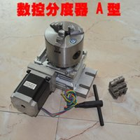 Wholesale 3 Jaw chuck mm th Axis CNC dividing head Rotation Axis rotary protractor A shaft horizontal A turntable th axis