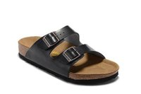 Wholesale Fashion Men Leather Sandals Cork Buckle Male Summer Beach Slippers Platforms Casual Flat Sliders For Men