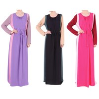 air dubai - 2015 spring and summer in Malaysia Indonesia the color of the Muslim dress dress with a belt of Dubai air bag