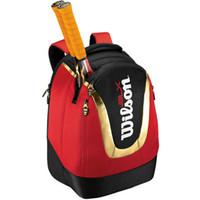 Sac à dos Tennis noir couleur rouge raquette sac à dos Professional 2 picece pack jour de la raquette sac de chauve-souris de bonne qualité