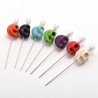 Wholesale 7pcs Gothic Skull Pattern Pins Evil Voodoo Curse Needles Vent Toys for Adults New Fast Shipment