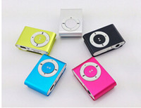 Wholesale Colorful MINI Clip MP3 Player with Inch LCD Screen Music player Support Micro SD Card TF Slot Earphone USB Cable with Gift box2015