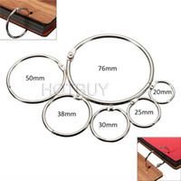 Wholesale Modern Style Metal Loose Leaf Book Binder Hinged Rings Keychain Album Scrapbook Craft different sizes