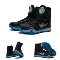 air commander - With shoes Box Kobe X Elite High Commander Black Metallic Silver Blue Lagoon Bryant KB Men Hot Sale Shoes