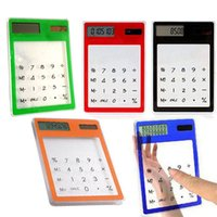 8 digit dual power calculator - New Solar Touch Screen LCD Digit Electronic Transparent Calculator G00236