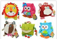 Wholesale style Cute Kids Plush School Backpack Toddlers Baby Childrens Boys Girls School Bag
