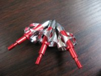 Wholesale 6 New Broadheads Arrow Archery Crossbow Compound Grain Arrowheads red archery broadheads archery brands