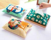 Wholesale Creative Table Dispenser Decoration Cotton Tissue Boxes Candy Color Dot Storage Tissue Case Facial Tissue Home Cover Holder