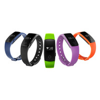 ID107 Bluetooth 4.0 intelligent Bracelet bande à puce Moniteur de fréquence cardiaque Wristband Fitness Tracker pour Android iOS Smartphone