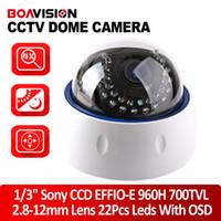 700TVL ccd dome camera - CCTV SONY Effio e TVL Security CCD Cameras Leds mm Varifocal Lens Indoor Dome Camera With OSD Menu