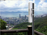 achat en gros de wifi extérieur amplificateur de signal-COMFAST CF-E312A 300mbps 5.8Ghz réseau sans fil ap reli de réseau Wifi CPE répéteur / amplificateur de signal 6 km