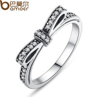 Wholesale New fashion sterling silver Bow Ring jewelry Tibetan silver ring wedding ring