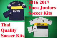 Wholesale Benwon Boca Juniors home soccer uniforms men s short sleeve thai quality soccer jersey Boca away football wear soccer kit sport sets