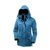 arctic outerwear - New Coming Canada Down Goose Womens Camp Hoody Winter Warm Slim Long Fit Hooded Outerwear Windproof Outwear Arctic Expedition Outdoor Parkas