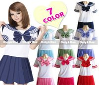 Wholesale 2016 New Japanese School Uniform korean school uniform dolly skirt Anime Girl Sailor Lolita Dress Maid Cosplay Costume GC12