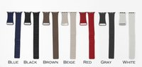 Wholesale 1 Original Design Leather Loop Band With Connector Adapter For Apple Watch Band MM MM Strap For iPhone iWatch Sport Magnetic Bracelet