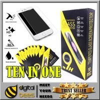 Wholesale iphone plus Samsung Galaxy s6 temper glass h hard mm screen protector for Iphone s toughened film HTC LG HUAWEI ZTE