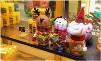 Wholesale 2016 Christmas gifts for children Christmas decorations Christmas Toy Santa Claus snowman deer Candy jar Christmas goods