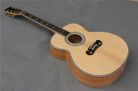 Wholesale Solid spruce acoustic guitar inch Mother of pearl inlay Ebony fingerboard acoustic electric guitar Chinese Custom guitars