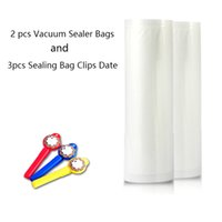 Wholesale Roll Vacuum Sealer Bags and Sealing Bag Clips Date Fresh keeping Bag of Vacuum Sealer Food Storage Bags and Food Clip