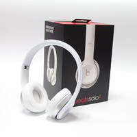 Wholesale Refurbished Headphones Beats Solo solo2 Headset On Ear Headphones Wired with retail box serial code from vip_c headphones