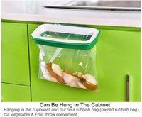 best cupboards - Best Price Color Random Hanging Trash Rubbish Bag Holder Garbage Rack Cupboard Cabinet Storage Hanger x12 x3 cm