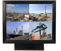 Wholesale HAMI H156J Metal Industrial LCD monitor with RCA and VGA input two BNC input and one BNC output