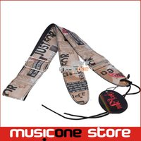bass adjuster - New Style Colour Printing metal buckle adjuster Adjustable Leather Acoustic Guitar Strap bass