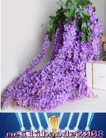 NEW 1.6 метра в длину Элегантный искусственного шелка Цветок Глициния Vine Ротанг для украшения свадебного банкета Букет Garland Home орнамент MYY