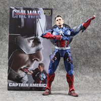 Wholesale 15 cm Super Hero Captain America PVC Action Figure Collectable Model Toy for kids gift