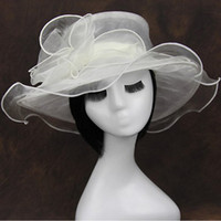 church hats - UV Mesh Church Hat Wide Brim Wedding Sea Beach Sun Hat colors