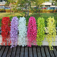 Wholesale Plastic Flowers The Simulation Flowers Plastic Flower Evergreen Cane Vine Cane Artificial Green Plant Rose Decorative Flower Cane Hanging