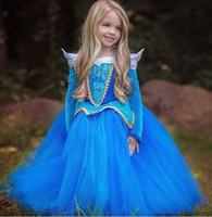 Wholesale New Halloween Long Sleeve Dress Children s Sleeping Beauty Costume Dancewear