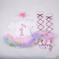 TUTU baby bottle warmers - baby girl toddler piece set outfits princess Number crown romper tutu diaper covers bloomers legging leg warmer headband shoes set