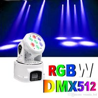 Wholesale Mini head moving lights DMX512 LED x10W RGBW Colorful stage lighting wash lights with LCD display good idea for KTV DJ Disco