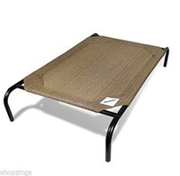 Wholesale Elevated Pet Bed Large Nutmeg Dog Cot Raised Off Ground Steel Frame