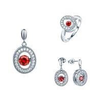 best dance classics - Top Sale Colors AAA Dancing Cubic Zirconia Pendants Ring Earring Classic Silver Women Jewelry Sets Best Friends Gift