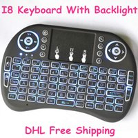 Wholesale Rii I8 Smart Fly Air Mouse Remote Backlight GHz Wireless Keyboard Remote Control Touchpad For Android TV Box R Box mini keyboard