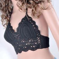 Wholesale Women Bralet Bra Lace Crochet Floral Bustier Cami Tank Bikini Vest CropTops
