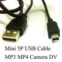 Mini cable de la carga del USB del mini cable del USB del envío libre de DHL PARA MP3 MP4 DIFERENTES CONMUTACIONES DURADAS DE LA CÁMARA DE DIGITAL