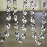 acrylic crystal chandeliers - 33 FT Crystal Clear Acrylic Bead Garland Chandelier Hanging Wedding Decoration