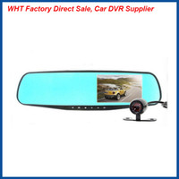 Wholesale 2016 Newest design inch blue screen degree angle HD car dvr recorder with dural lens Night Vision G sensor Parking Monitor