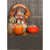 Wholesale 5X7ft x220cm Halloween party Pumpkin Vinyl Photography Background Backdrops backgrounds for photo studio HA210