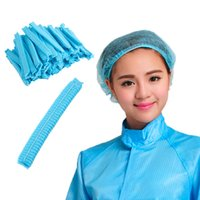Wholesale Breathable Dustproof Disposable Head Cover Mob Cap Hat Hair Net Non Woven Anti Dust Hats Hot
